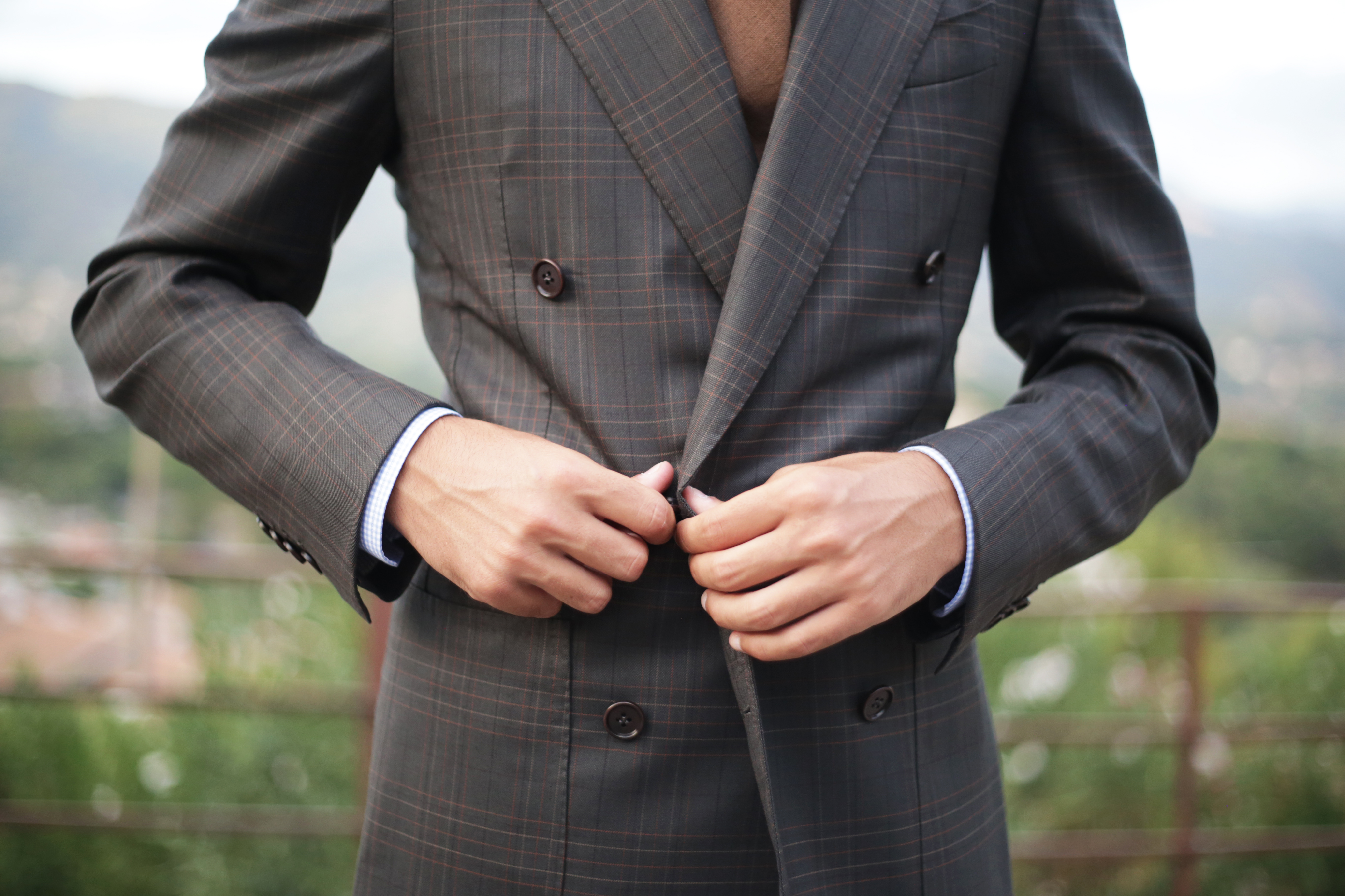 Sartoria Caracciolo bespoke suit made with Huddersfield Textiles fabric.